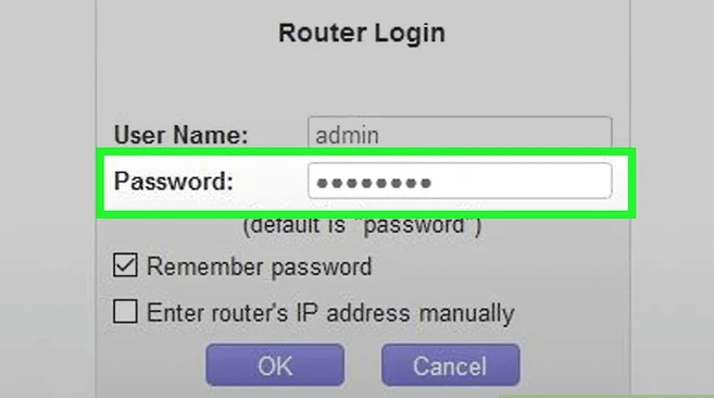 Add the router's password