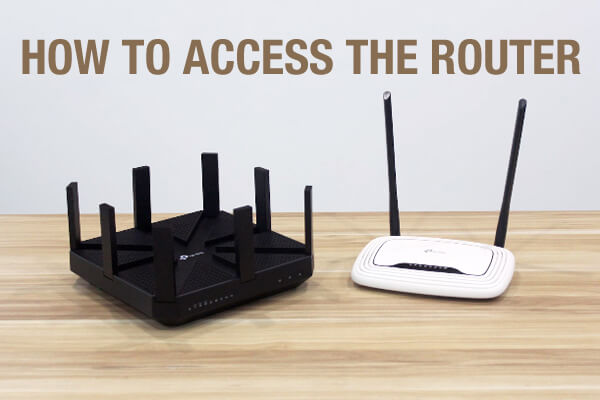 how to access the router