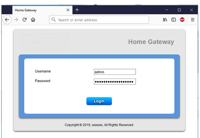 login router Interface