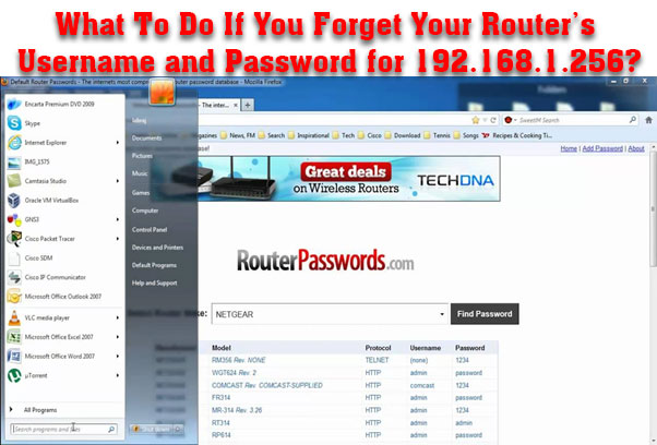 What To Do If You Forget Your Router's Username and Password for 192.168.1.256?
