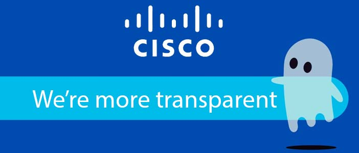Data transparency is valued at Cisco