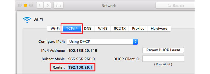 Find ip address on mac os