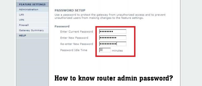 How to know router admin password
