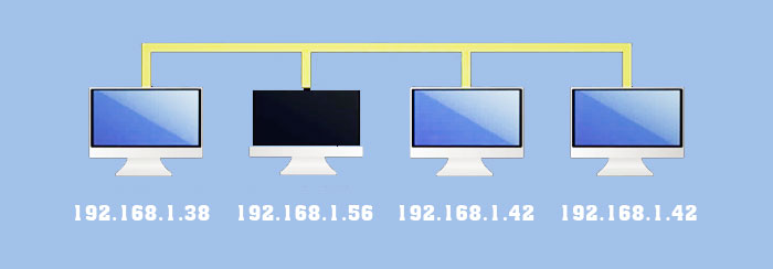 Using the same IP address 192.68.0.1 on multiple devices