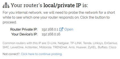 Probe your network for default IP 192.168.8.1