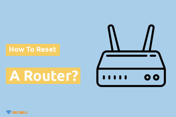 how to reset a router to default