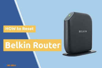 how to reset belkin router