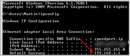 How to get access to your IP Address using Windows.