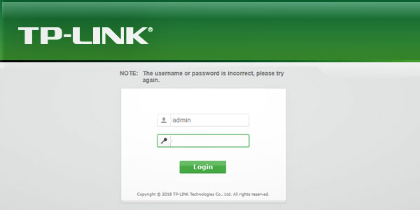 Use your browser's default username and password in user login panel