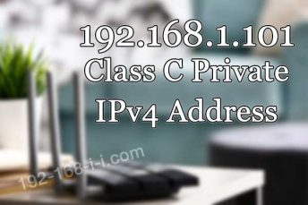 What Is 192.168.1.101 Ip Address