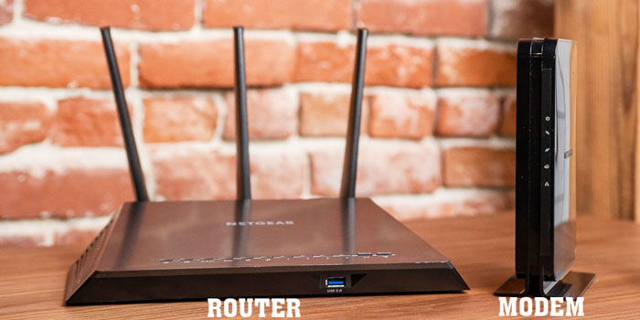 The difference between modem and router