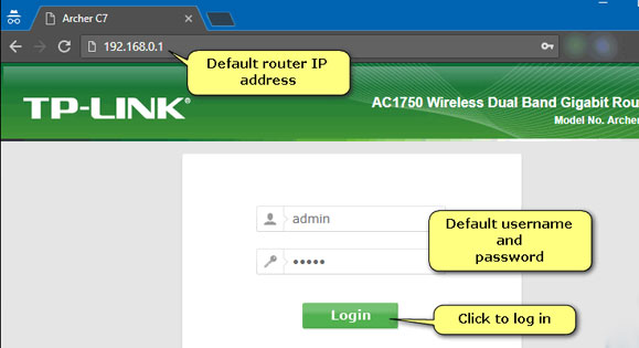 How to log into TP Link