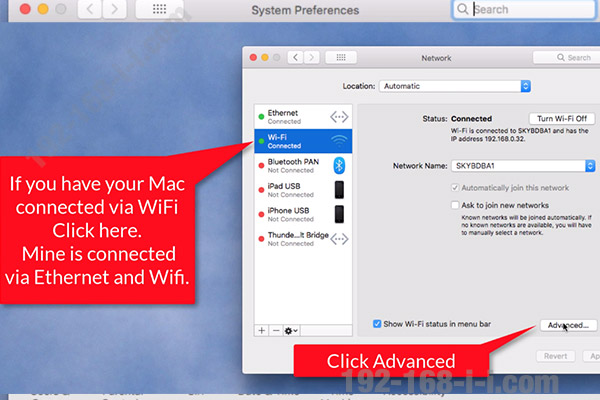 Finding the router IP address in Mac OS X step 3