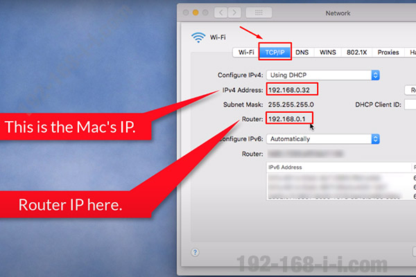 Finding the router IP address in Mac OS X step 4