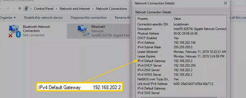 IPv4 Default Gateway section