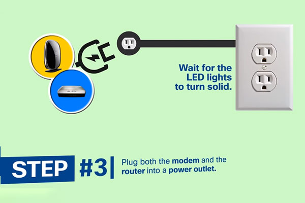 Plug both the router and the modem