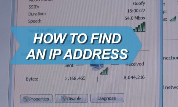 How to find your IP address
