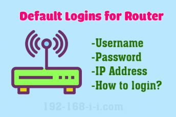 Default Router Login