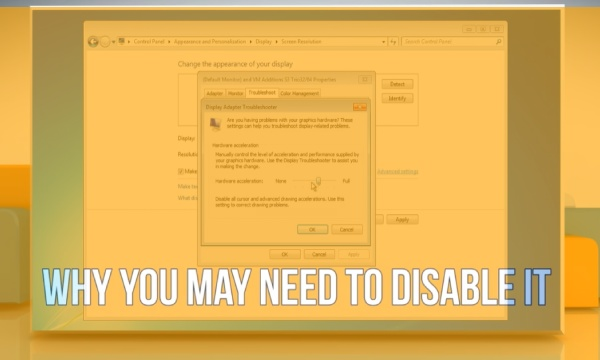 Why Sometimes You Need to Disable It