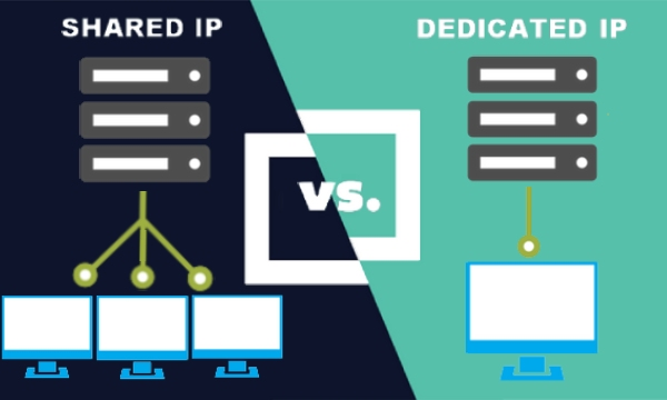 difference between a Shared and Dedicated IP address