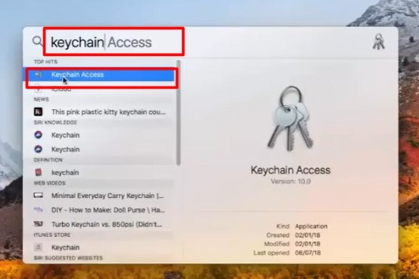 Manually find and share wifi password in Keychain Access
