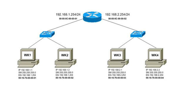 How does a router transfer packet?
